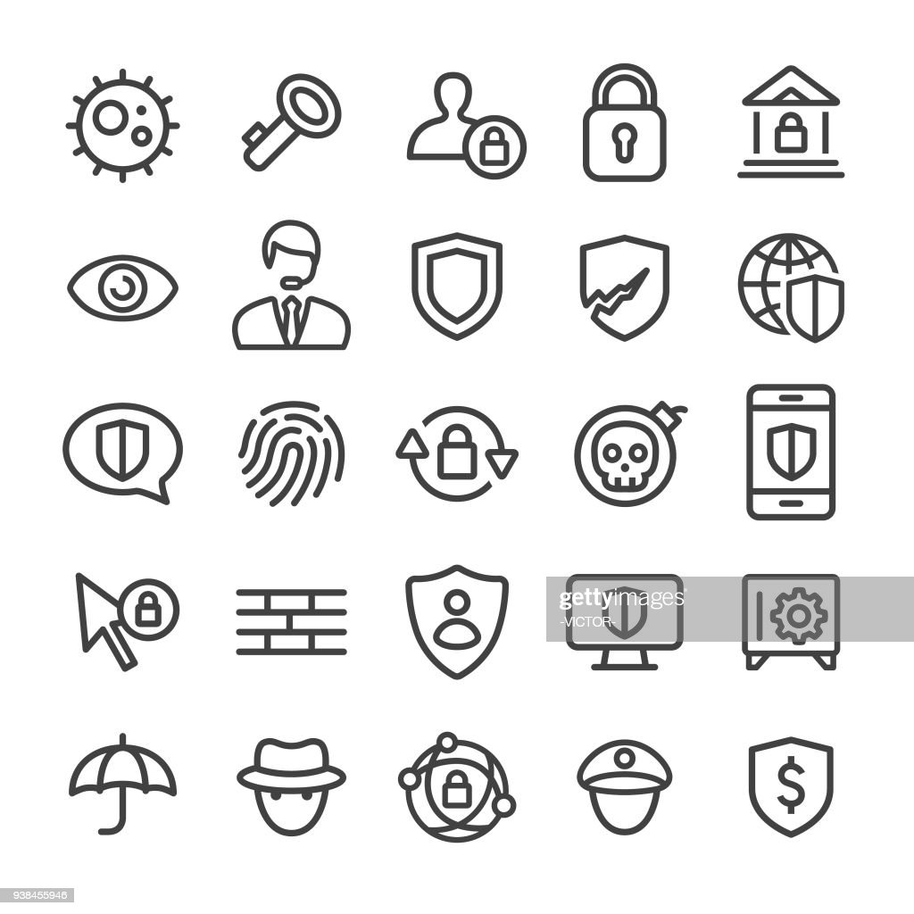 Security Icons - Smart Line Series
