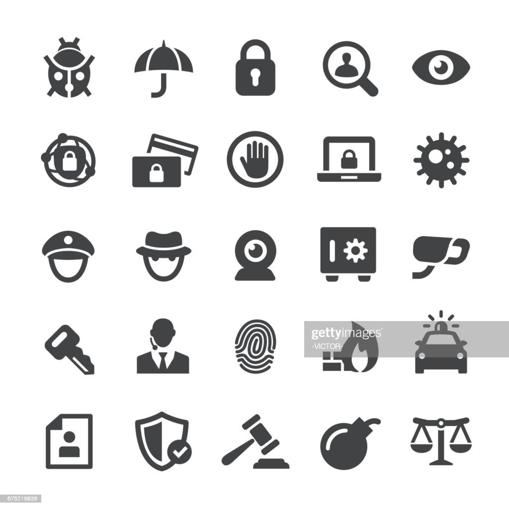 Security Icons - Smart Series : stock illustration