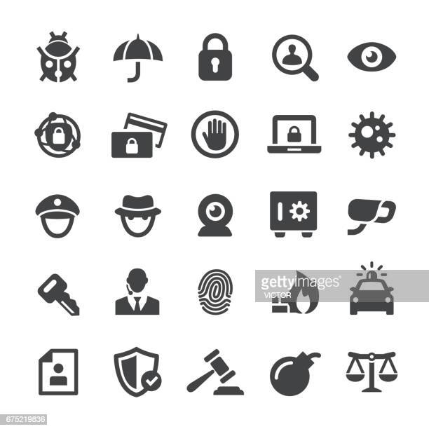 security icons - smart series - closing stock illustrations, clip art, cartoons, & icons