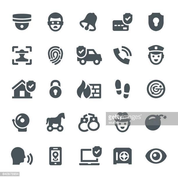 illustrations, cliparts, dessins animés et icônes de icônes de sécurité  - voleur