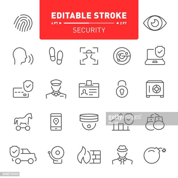 security icons - security camera stock illustrations