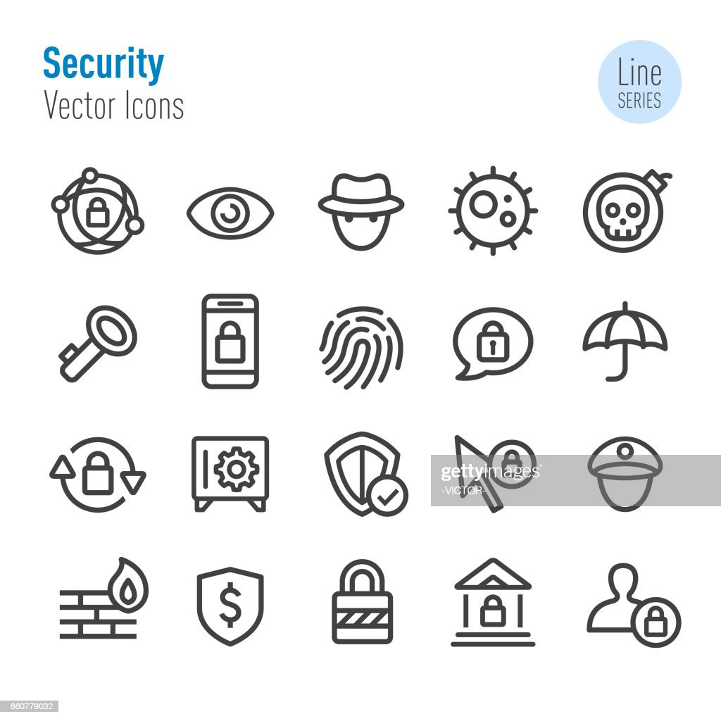 Security Icons - Vector Line Series