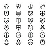 Security Line Vector Icons Set