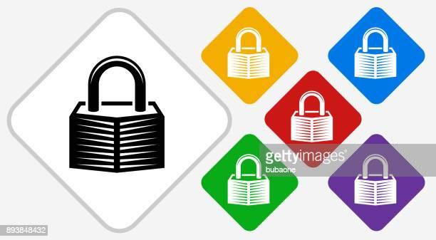 Security Lock Color Diamond Vector Icon