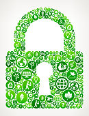 Security Lock  Nature and Environmental Conservation Icon Pattern