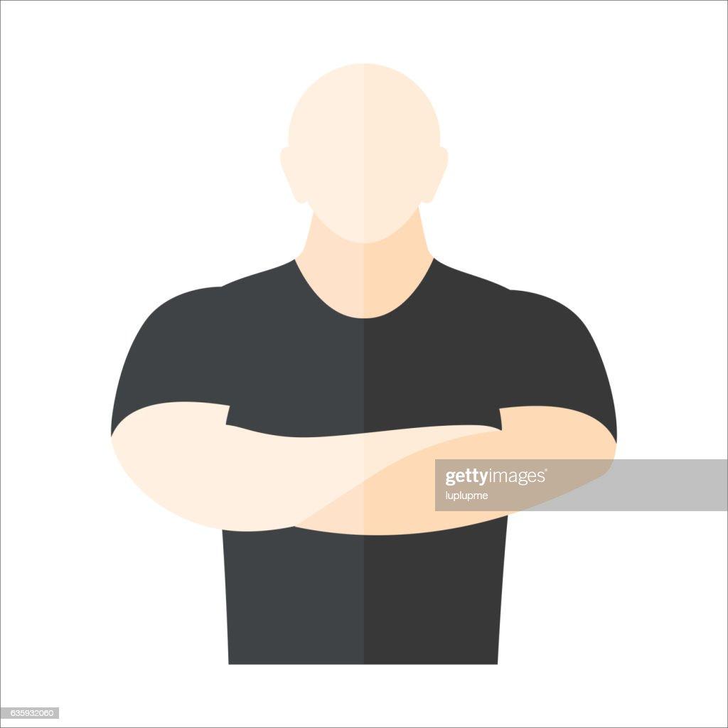 Security man vector illustration.