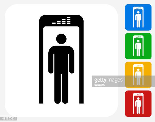 Security Metal Detector Icon Flat Graphic Design