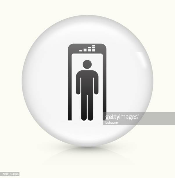 Security Metal Detector icon on white round vector button