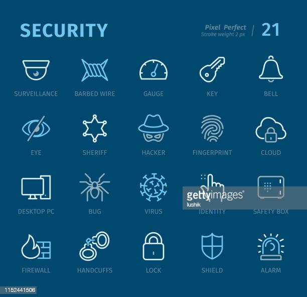 Security - Outline icons with captions