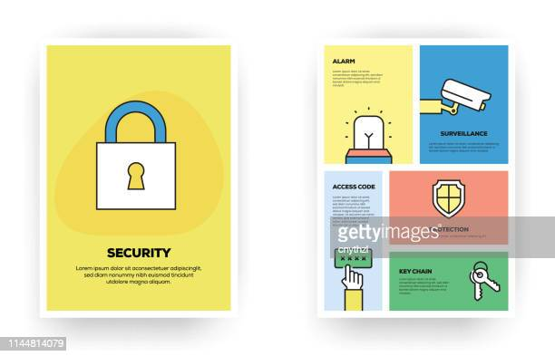 security related infographic - eye scanner stock illustrations
