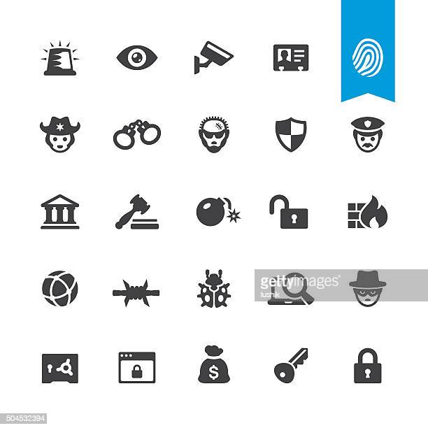 Security related vector icons