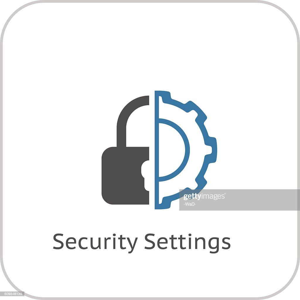 Security Settings Icon. Flat Design.