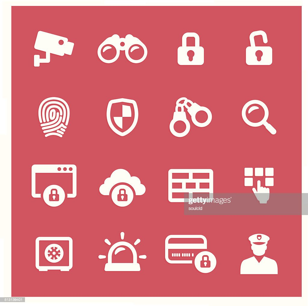 Security System Icons : stock illustration