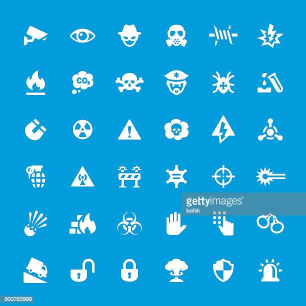 Security System vector icons set