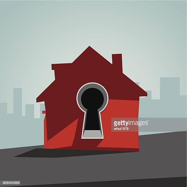 security system - keyhole stock illustrations, clip art, cartoons, & icons