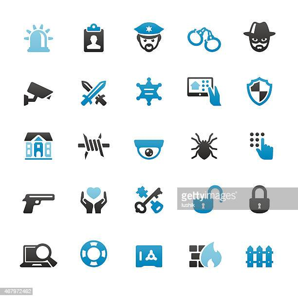Security Systems vector icons