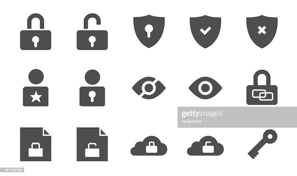 Security vector iconset