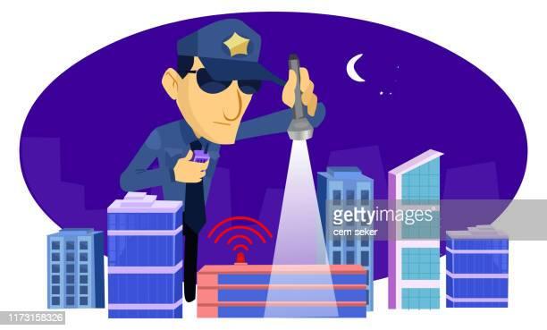 セキュリティ - 警察署点のイラスト素材/クリップアート素材/マンガ素材/アイコン素材