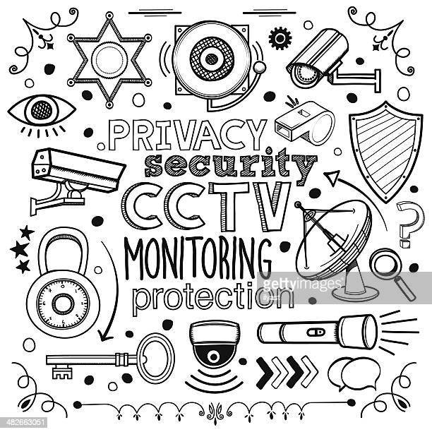 security - security camera stock illustrations