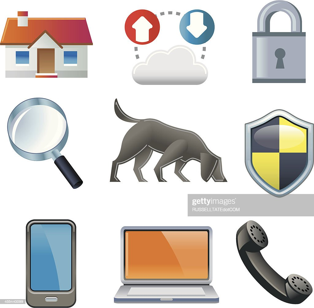 Security workflow and tracking : stock illustration