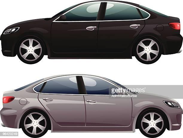 sedan - sedan stock illustrations, clip art, cartoons, & icons