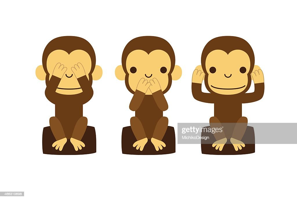 See no evil, hear no evil, speak no evil, monkey
