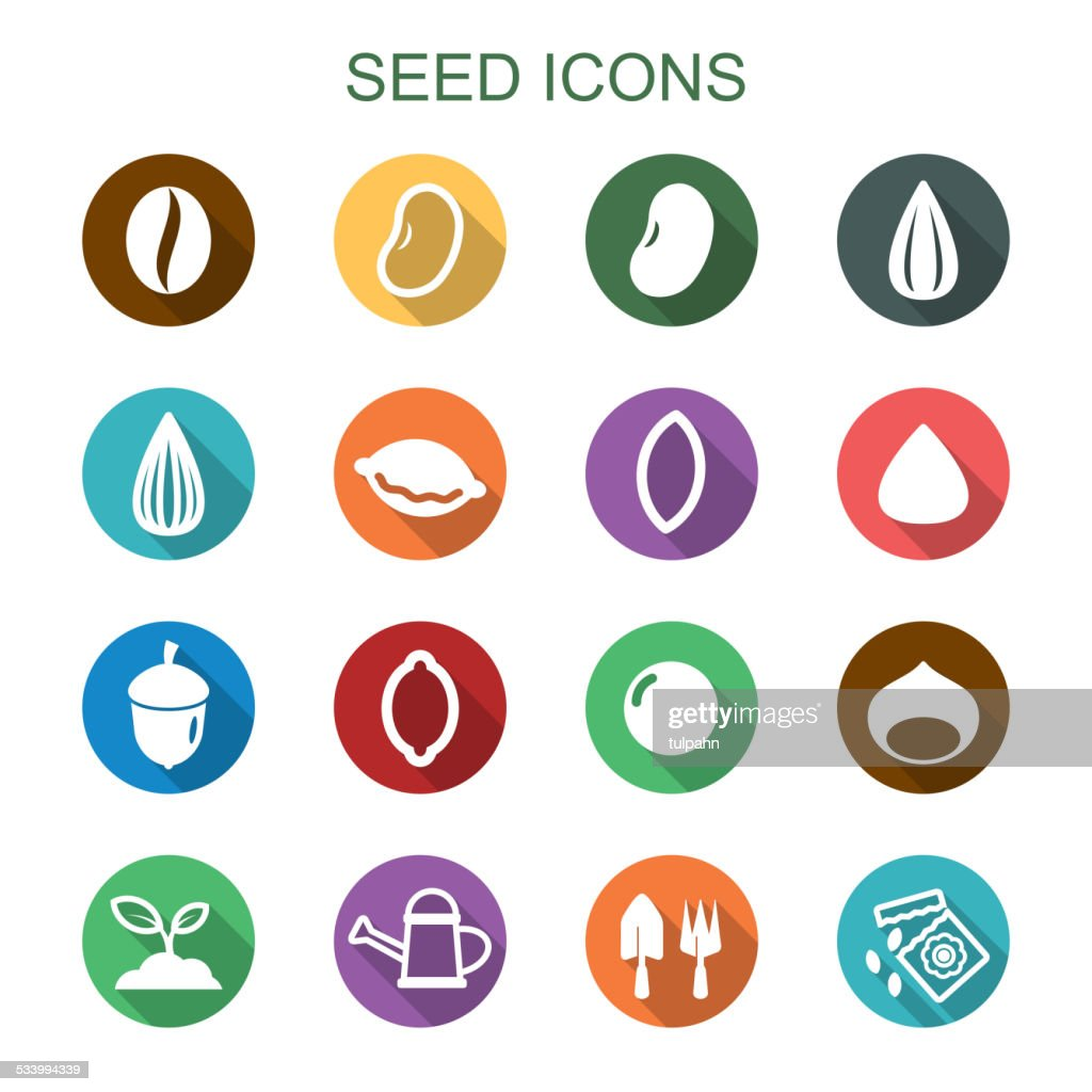 seed long shadow icons