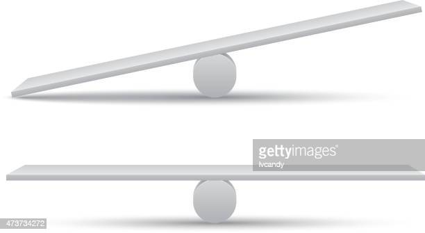 seesaw - balance stock illustrations