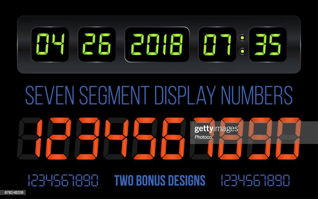7 Segment LED Display Numbers with Calendar & Clock