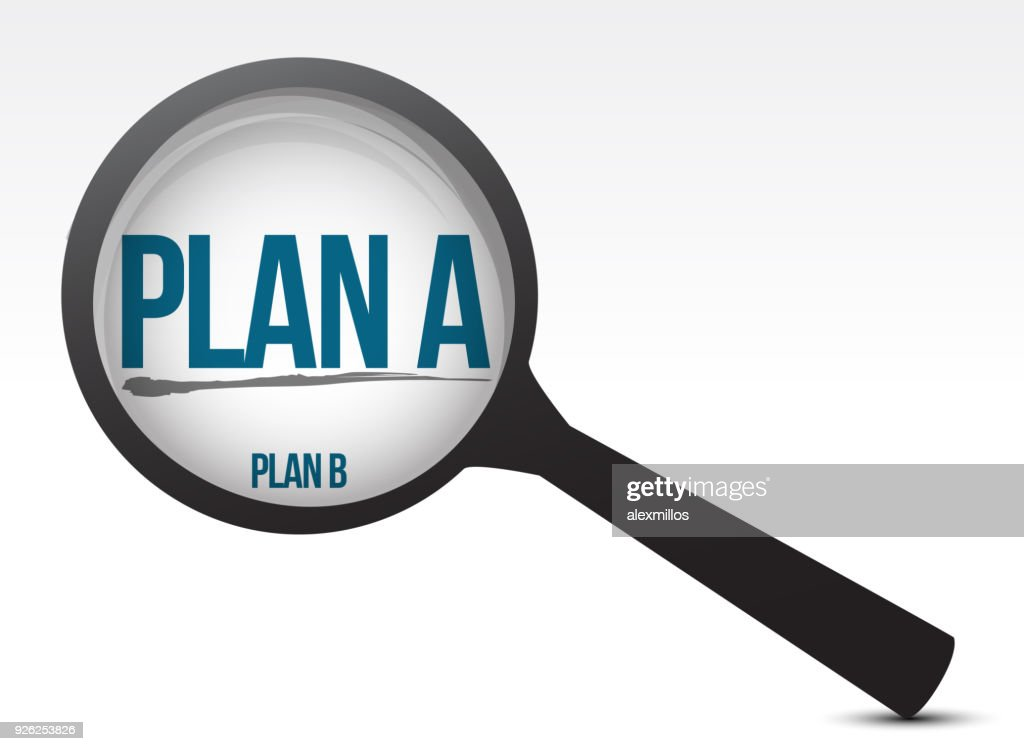 selecting one plan over another one illustration design