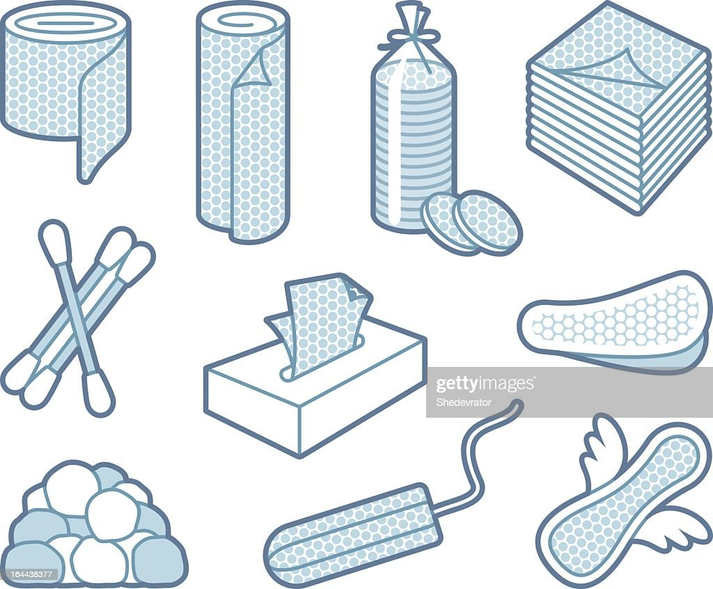 Selection of gray shaded hygiene icons on white background