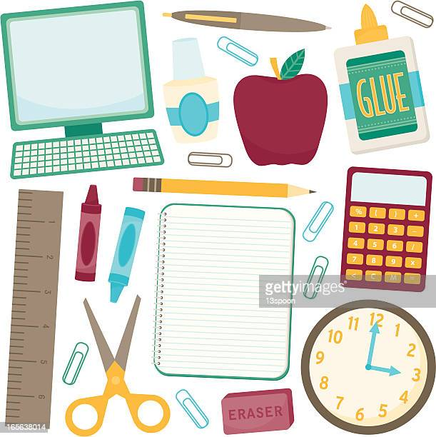 A selection of school and study icons
