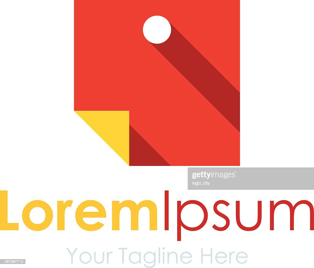 Self appointed task red blank paper element icon logo business