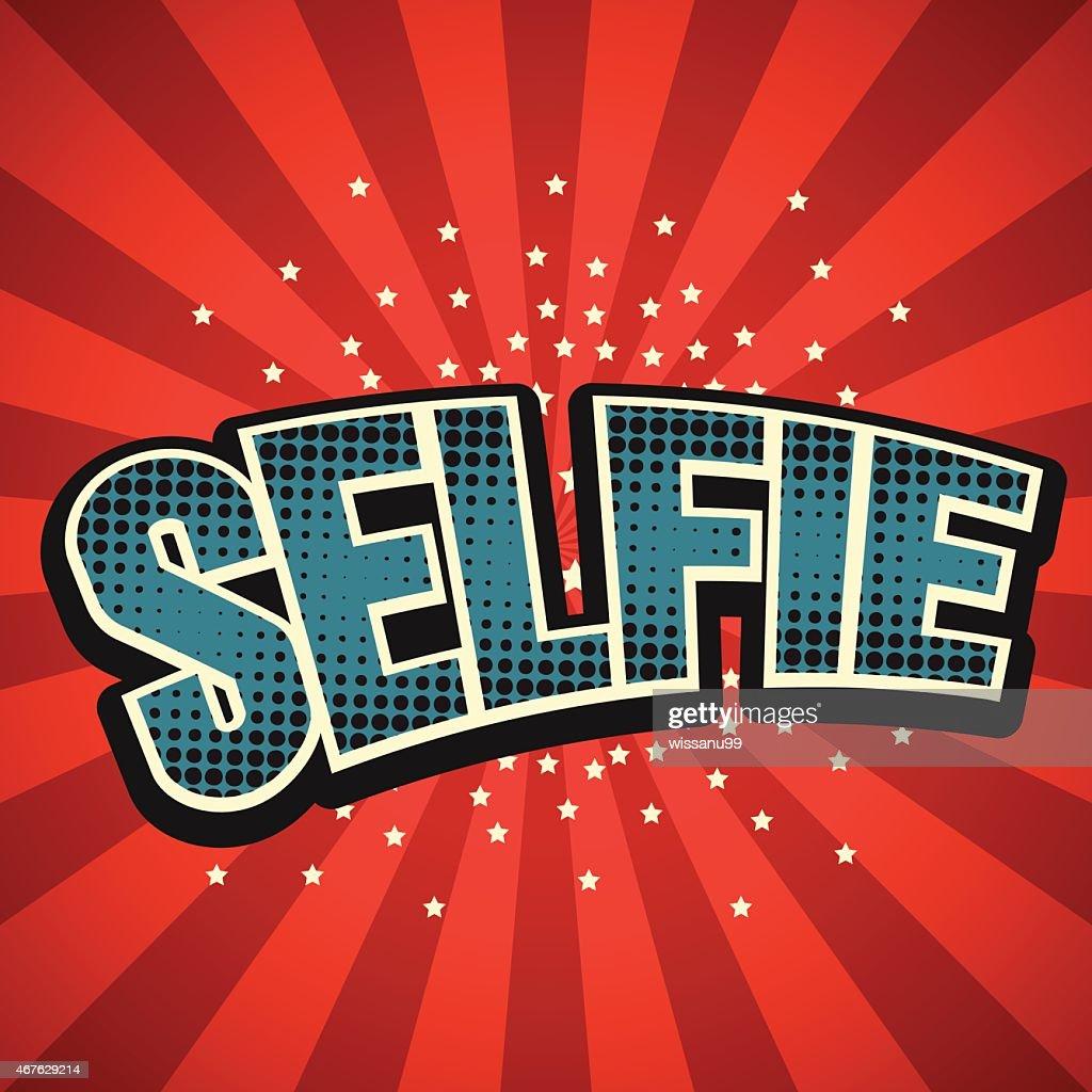 Selfie speech bubble background
