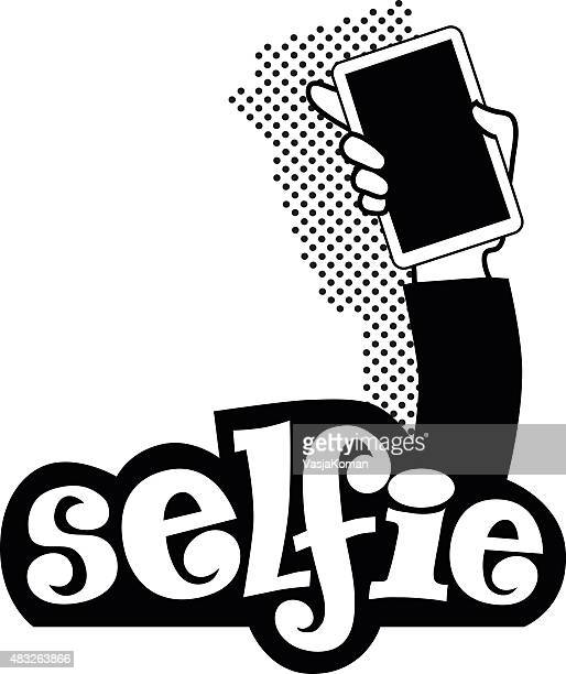 Selfie Taking - Black and White Logo