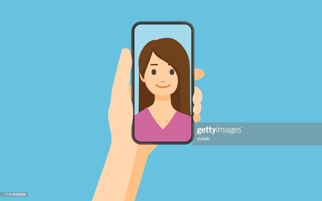 Selfie : Stockillustraties