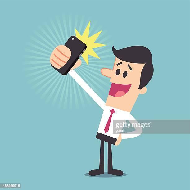 ilustraciones, imágenes clip art, dibujos animados e iconos de stock de autofoto - selfie