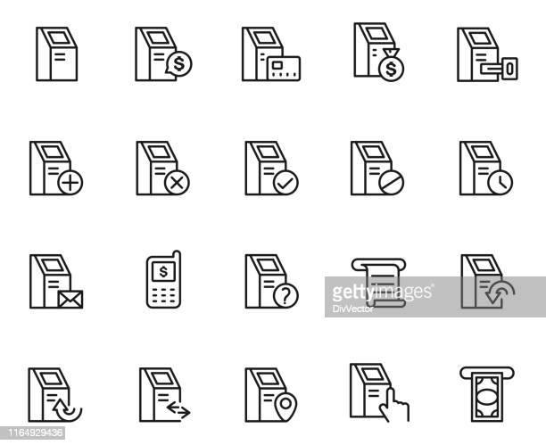 セルフサービス端末アイコンセット - レシピ帳点のイラスト素材/クリップアート素材/マンガ素材/アイコン素材