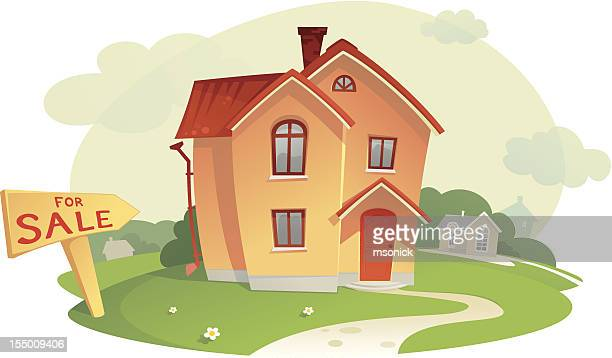 sell the house - private property stock illustrations