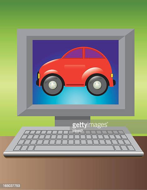 selling car online - buy single word stock illustrations, clip art, cartoons, & icons
