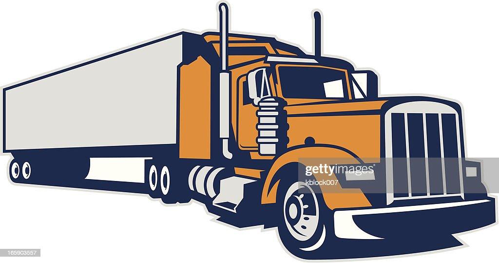 60 Top Semi Truck Stock Illustrations Clip Art Cartoons Icons
