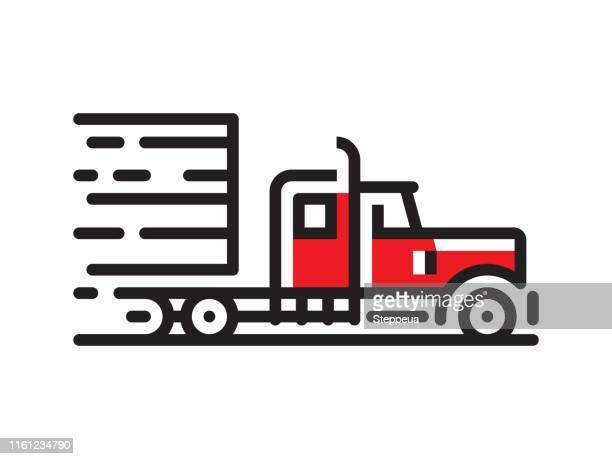セミトラックアイコン - 大型トレーラー点のイラスト素材/クリップアート素材/マンガ素材/アイコン素材