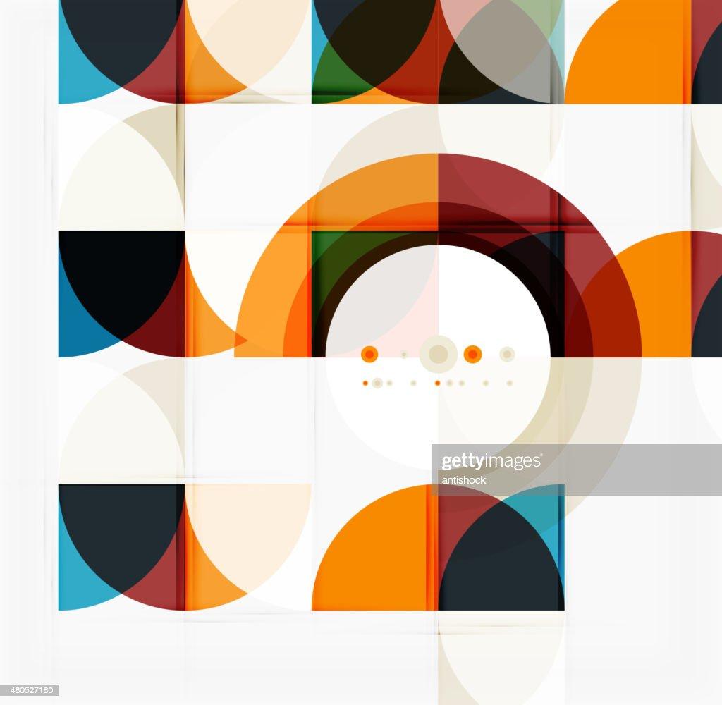 Semicircle triangle pattern : Vector Art