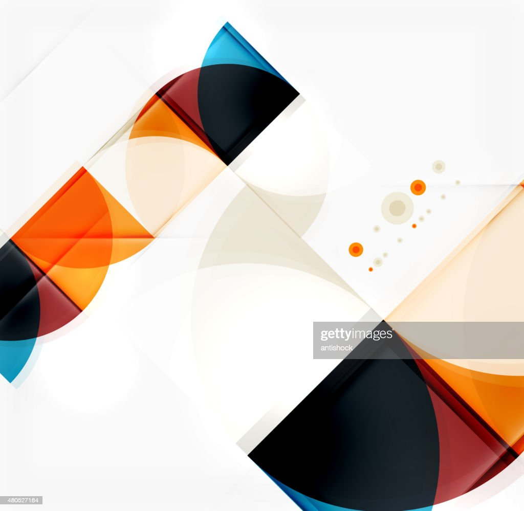 Semicircle triangle pattern : Vectorkunst