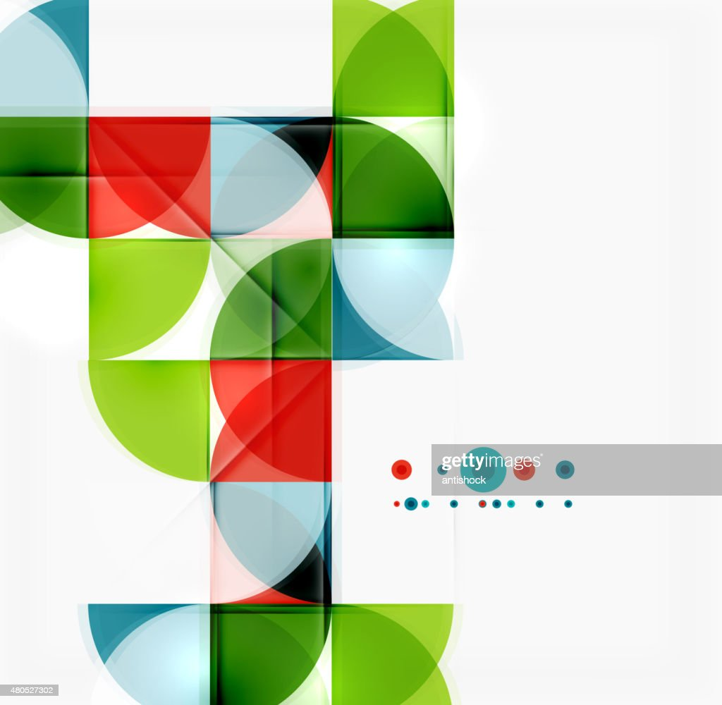 Semicircle triangle pattern : Vector Art