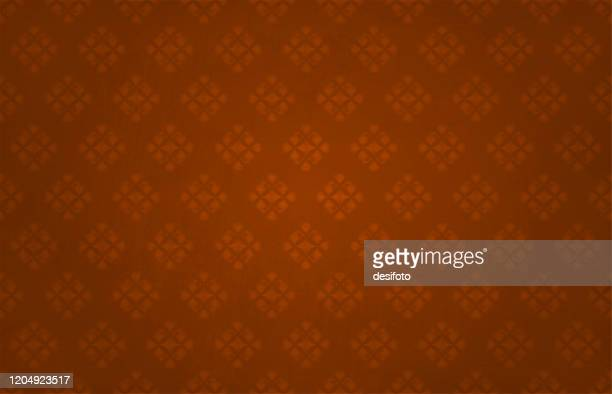 semi-seamless textured dark bright red coloured backgrounds (the hearts pattern are seamless, while the grunge is not) with a floral pattern made of small hearts allover - tradition stock illustrations