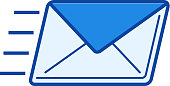 Send email line icon