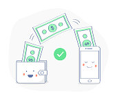 Sending and Receiving money, payments using smartphone