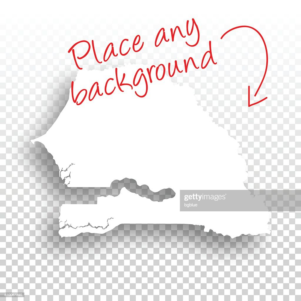 Senegal Map For Design Blank Background Vector Art Getty Images - Senegal map vector