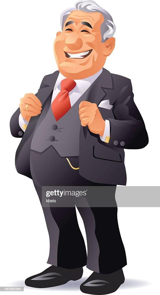 Senior hombre de negocios : Ilustración de stock